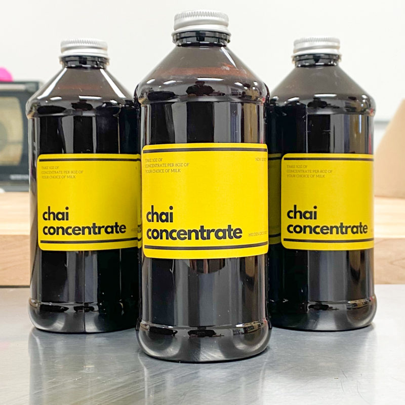 Chai Concentrate Bottles